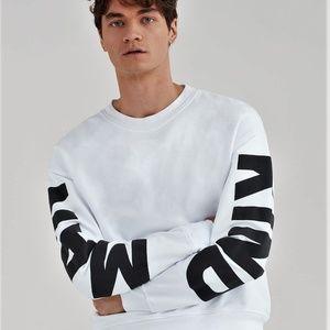 New 7 For All Mankind KIND MAN Print Sweatshirt L